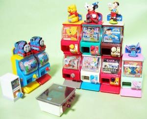 ガチャガチャやゲームのミニチュア玩具