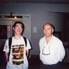 Gerard Jugnot監督 と自分、96年フランス映画祭にて