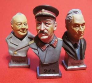 チャーチル、スターリン、ルーズベルト(ヤルタ会談)「セレブの肖像」by F-toysより