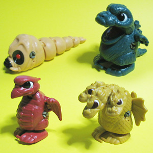Wind-up Hatching Godzilla, Rodan, King-Gidorah, Mothra(1988)