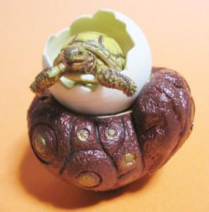ガメラの赤い石とトト誕生(超合金『小さき勇者たち~ガメラ』付属品)