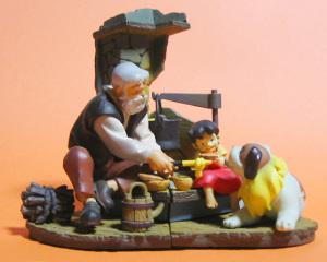 アルプスの少女ハイジ とろけるチーズのプチパン/海洋堂 ハイジミニヴィネット 2003「ハイジとヨーゼフ」「おんじ」
