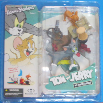 "Tom and Jerry Action Figure ""NO TRESPASSING!"" / by McFARLANE TOYS"