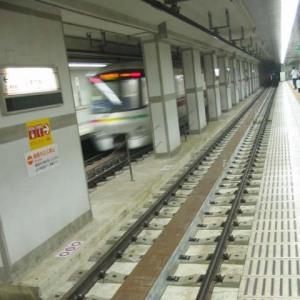 大江戸線都庁駅ホームから