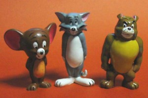 TOM and JERRY (Jerry, Tom and Spike)/ PVC figures