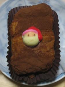 サンタの顔が前食べたのと違う…