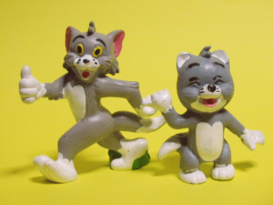 PVC figure/ TOM and TOM Jr. / by Schleich (1981)
