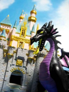 Sleeping beauty castle with the Dragon