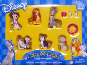 PVC figurine playset / Disney Cats & Dogs / by Applause