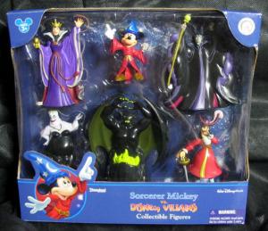 Sorcerer Mickey vs. Disney VILLAINS Collectible Figures / Disney parks Authentic Original