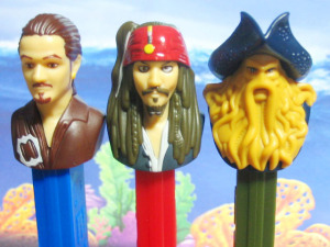 PEZ / PIRATES of the CARIBBEAN. /close up