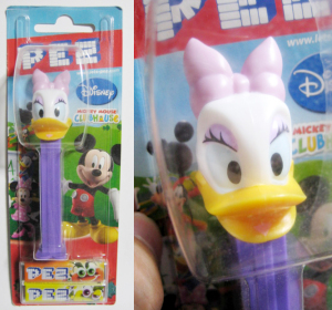 PEZ/ Daisy Duck / Mickey Mouse CLUBHOUSE card