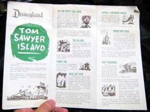 Explorer's map of TOM SAWYER ISLAND in FRONTIERLAND Disneyland U.S.A. (1957)