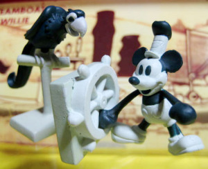 MOVIE FRIENDS No.19/ Steamboat Willie /MICKEY MOUSE and PARROT / by YUTAKA (1998)