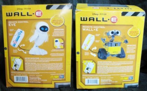 REMOTE CONTROL WALL・E and EVE / Package back side