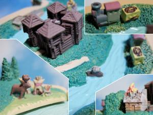 トムソーヤ島/燃える小屋、SL、インディアンのテントなど