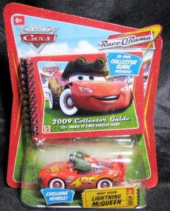 Disney・PIXAR CARS / NIGHT VISION LIGHTNING McQUEEN with COLLECTOR GUIDE