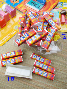 PEZ/ ASSORTED FRUIT CANDY