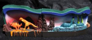 ディズニーランド鉄道 (トンネル1と2/内部の恐竜)