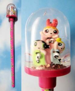 mini snow globe with Pencil / Powerpuff Girls