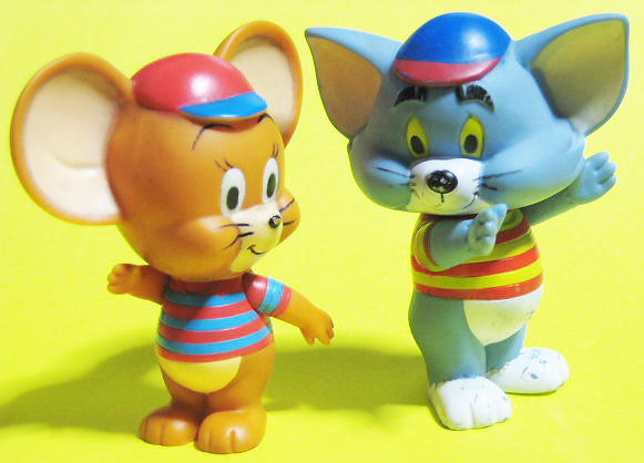 Squeak dolls / TOM and JERRY / Made in Japan (1967)