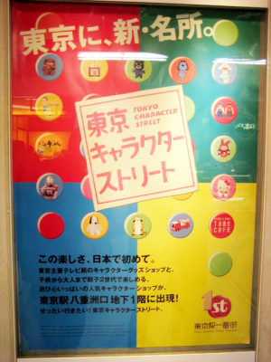 東京駅一番街/東京キャラクターストリート(構内ポスター)
