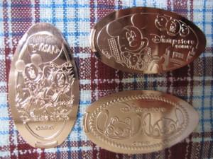 Disney Store Souvenir Medal / OSAKA Shinsaibashi in JAPAN