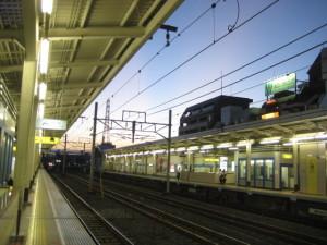 葛西駅の夕焼け