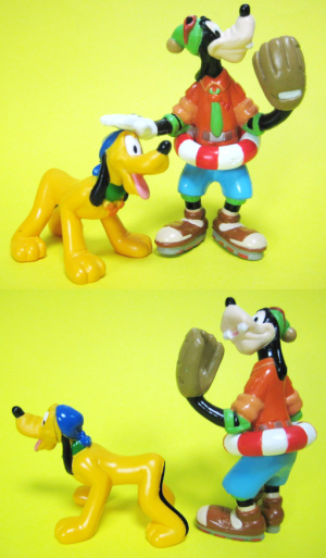 Pluto and Goofy / Disney wonder land / DW Hello Wonder Set (2003)