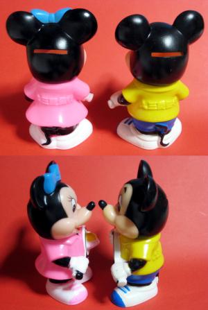 三菱銀行ディズニーキャラクター貯金箱/ミッキー&ミニー(1983)