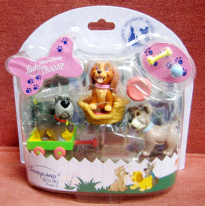 Figurine Play set/ Lady and the Tramp / Disneyland Resort PARIS