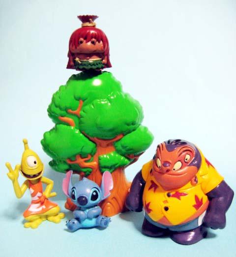 IZAYOI島の仲間たちセット/キジムナー、スティッチ、プリークリー、ジャンバと木