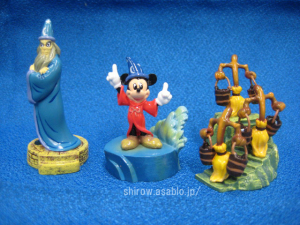 Tiny Kingdom /Fantasia (The Sorcerer's Apprentice) Yensid, Mickey, Broom