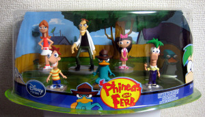 Figurine Play set/ Phineas and Ferb /Disney Store Exclusive