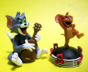Collectable Figurine / Tom and JERRY Chiccha-Friends / TOM and Jerry Dance Music / by F-toys Confect. (Japan)