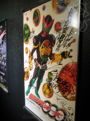 仮面ライダーオーズ/出演者のサイン入り番宣ポスター