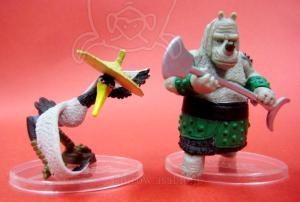 Kung Fu Panda Collectible Figure / Rhino Commander and Master Crane / by Mattel
