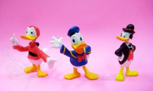 Fethry Duck, Donald Duck and John D. Rockerduck / Disney Comic Figurine