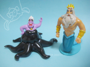 PVC Figurine/LITTLE MERMAID Ursula and King Triton (1997)by apllause