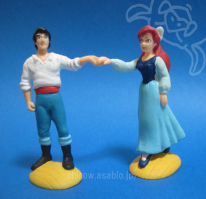 PVC Figurine/LITTLE MERMAID Prince Eric and Ariel (1989)by apllause