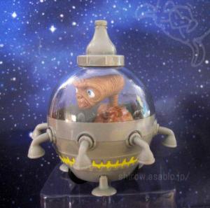 PULLBACK TOY /E.T. rides UFO /E.T. ADVENTURE / UNIVERSAL STUDIO JAPAN