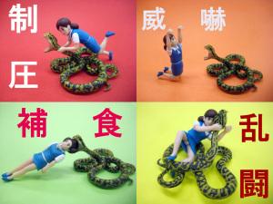 【ギリギリの対決! フチ子vsハブ】