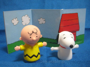 チャーリー・ブラウンとスヌーピー (指人形)
