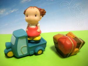 ジブリがいっぱい指人形/オート三輪は荷物がはずせて、キャラクターが乗れる