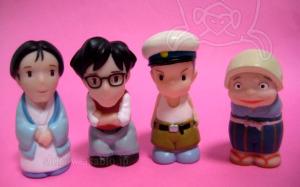 ジブリがいっぱい指人形/草壁ヤスコお母さん、草壁タツオお父さん、カンタ、おばあちゃん