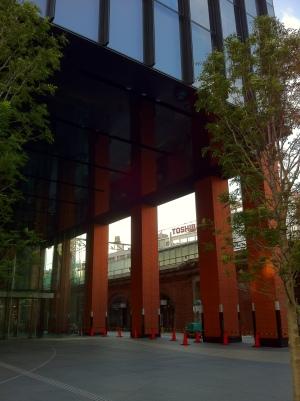 交通博物館 跡地 より、万世橋駅ホーム側を見る