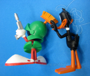 Looney Tunes Figure 2-Pack /The Bridge Direct/ Daffy Duck and  Marvin the Martian (back)