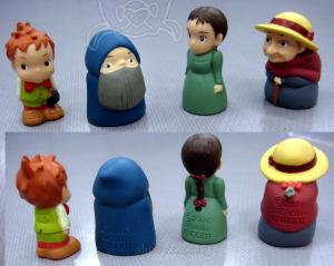 ジブリがいっぱい指人形/ハウルの動く城/マルクル、マルクルじいさん、ソフィー、ソフィーばあさん、