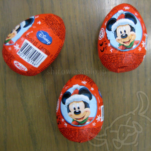 Zaini Chocolate Egg / Disney Mickey and Co. Santa costume series