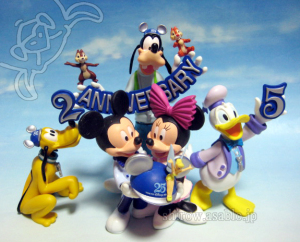 Tokyo Disney Resort 25th Campaign Original Figurine / Mickey Mouse, Minnie Mouse, Donald Duck, Goofy, Chip'nDale, TinkerBell.